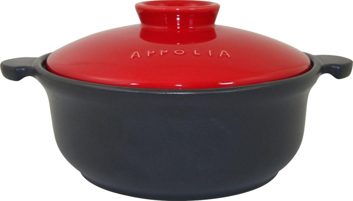 Кастрюля Appolia Terre&Flamme, цвет: красный, 3,1 л505031020Коллекция Terre&Flamme сочетает в себе современные технологии и вековые традиции. Прочная жароустойчивая керамика экологична и изготавливается из высококачественной глины. Прочная глазурь устойчива к растрескиванию и сколам, не содержит свинца и кадмия. Глина обеспечивает медленный и равномерный нагрев, деликатное приготовление с сохранением всех питательных веществ и витаминов, а та же долго сохраняет тепло, что удобно при сервировке горячих блюд. Подходит для приготовления на открытом огне, на газовых, электрических и других плитах, некоторые модели подходят для использования на индукционных плитах. Необходимо тщательно просушивать после мытья и хранить с приоткрытой крышкой.
