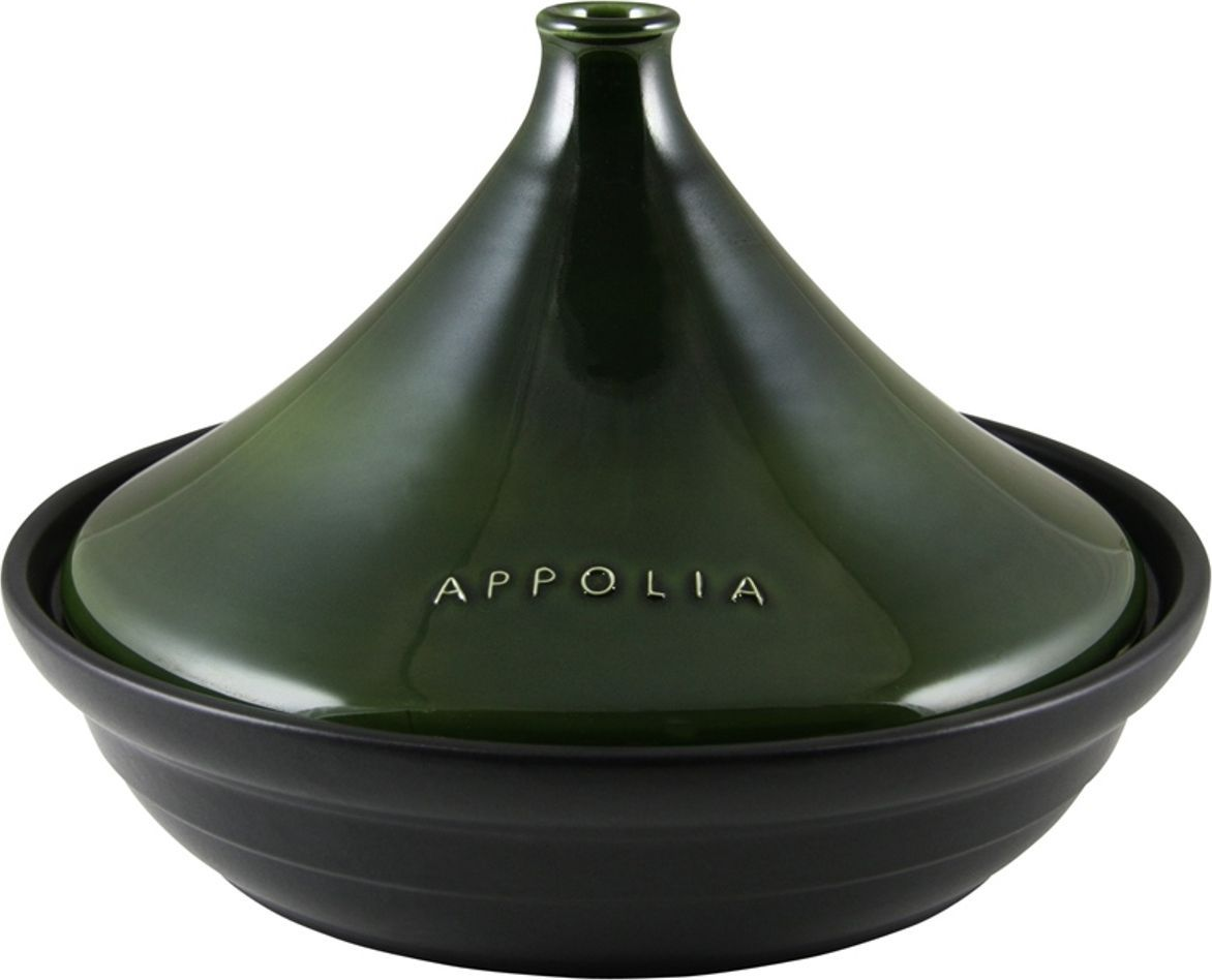 Тажин Appolia Terre&Flamme, круглый, цвет крышки: авокадо, 3 л530030004Коллекция Terre&Flamme сочетает в себе современные технологии и вековые традиции. Прочная жароустойчивая керамика экологична и изготавливается из высококачественной глины. Прочная глазурь устойчива к растрескиванию и сколам, не содержит свинца и кадмия. Глина обеспечивает медленный и равномерный нагрев, деликатное приготовление с сохранением всех питательных веществ и витаминов, а та же долго сохраняет тепло, что удобно при сервировке горячих блюд. Подходит для приготовления на открытом огне, на газовых, электрических и других плитах, некоторые модели подходят для использования на индукционных плитах. Необходимо тщательно просушивать после мытья и хранить с приоткрытой крышкой.