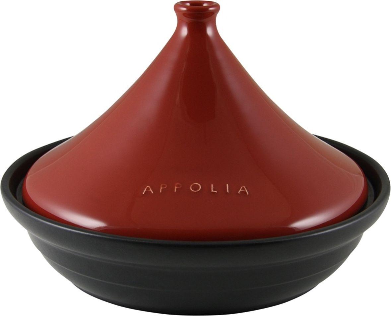 Тажин Appolia Terre&Flamme, круглый, цвет крышки: красный, 3 л530030005Коллекция Terre&Flamme сочетает в себе современные технологии и вековые традиции. Прочная жароустойчивая керамика экологична и изготавливается из высококачественной глины. Прочная глазурь устойчива к растрескиванию и сколам, не содержит свинца и кадмия. Глина обеспечивает медленный и равномерный нагрев, деликатное приготовление с сохранением всех питательных веществ и витаминов, а та же долго сохраняет тепло, что удобно при сервировке горячих блюд. Подходит для приготовления на открытом огне, на газовых, электрических и других плитах, некоторые модели подходят для использования на индукционных плитах. Необходимо тщательно просушивать после мытья и хранить с приоткрытой крышкой.