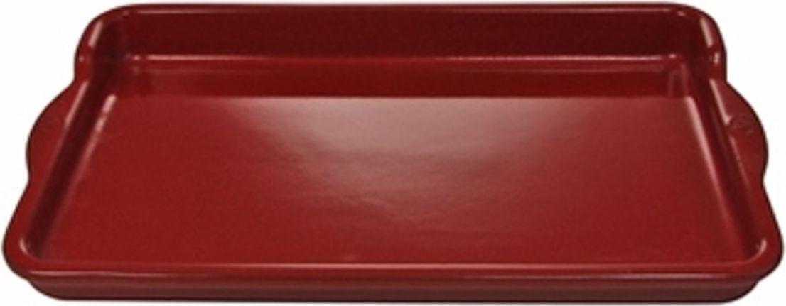 Противень Appolia Terre&Flamme, цвет: красный, 36 х 22 х 3,6 см540036003Коллекция Terre&Flamme сочетает в себе современные технологии и вековые традиции. Прочная жароустойчивая керамика экологична и изготавливается из высококачественной глины. Прочная глазурь устойчива к растрескиванию и сколам, не содержит свинца и кадмия. Глина обеспечивает медленный и равномерный нагрев, деликатное приготовление с сохранением всех питательных веществ и витаминов, а та же долго сохраняет тепло, что удобно при сервировке горячих блюд. Подходит для приготовления на открытом огне, на газовых, электрических и других плитах, некоторые модели подходят для использования на индукционных плитах. Необходимо тщательно просушивать после мытья и хранить с приоткрытой крышкой.