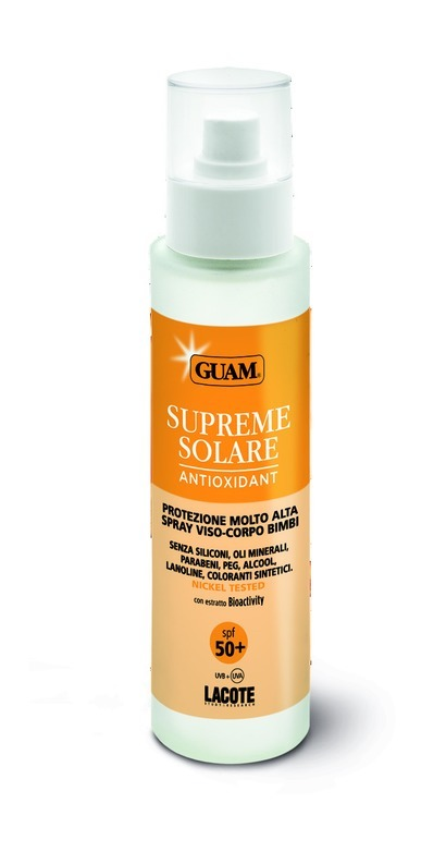 Guam Солнцезащитный крем SPF 50+ Solare, 100 мл0780Максимальная защита от агрессивного воздействия солнечных лучей. . Разработан для деликатной кожи детей во время пребывания на солнце. Спрей предохраняет кожу от обгорания, преждевременное старение и появление пигментных пятен.