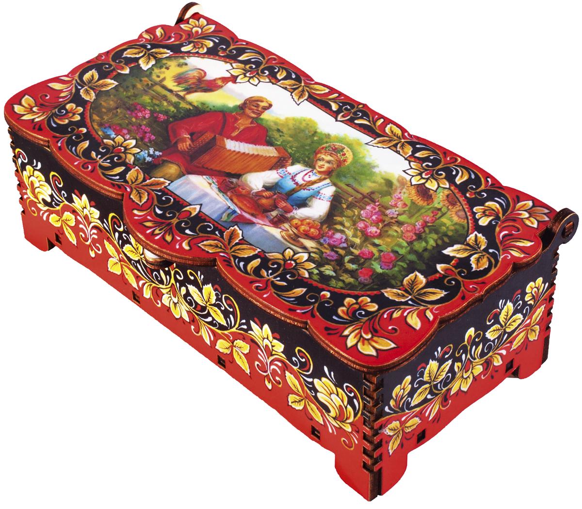 Кремлина Гармонист шкатулка подарочная кремлинка вишенка, 150 г кремл��на зимние забавы шкатулка подарочная 150 г