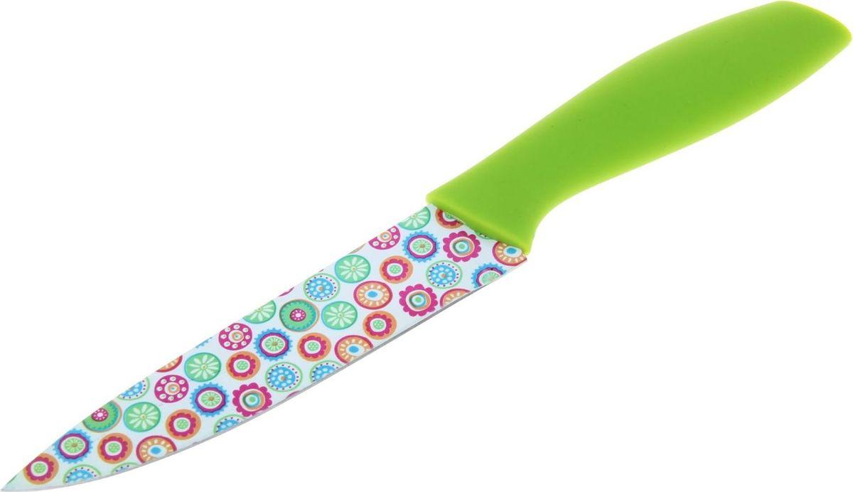 Нож Доляна Кострома, с антиналипающим покрытием, 15 см. 833143833143Нож с антиналипающим покрытием станет отличным подспорьем в готовке для каждого увлечённого повара.Чем он хорош?Антиналипающее покрытие сокращает время готовки.Надёжная сталь обеспечивает длительный срок службы и высокую прочность.Изделие не впитывает посторонние запахи, не вступает в реакции с продуктами.Нож легко моется, требует минимального ухода.Удобная ручка предохраняет руки от усталости.Яркий дизайн выгодно отличает нож от морально устаревших моделей.Правила ухода:перед первым применением нож необходимо тщательно промыть в горячей воде с добавлением чистящего средства;производите чистку ножа после каждого использования;не используйте абразивные моющие средства и металлические губки;перед тем, как убрать нож на хранение, обязательно протрите его сухим полотенцем.Внимание: лезвия ножей очень острые! Храните ножи в недоступном для детей месте.