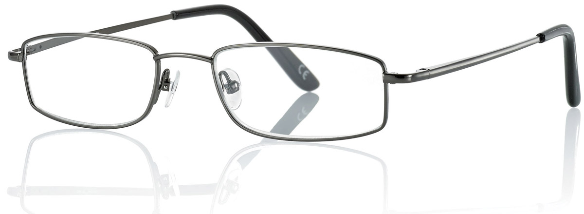CentroStyle Очки для чтения +3.50, цвет: серый