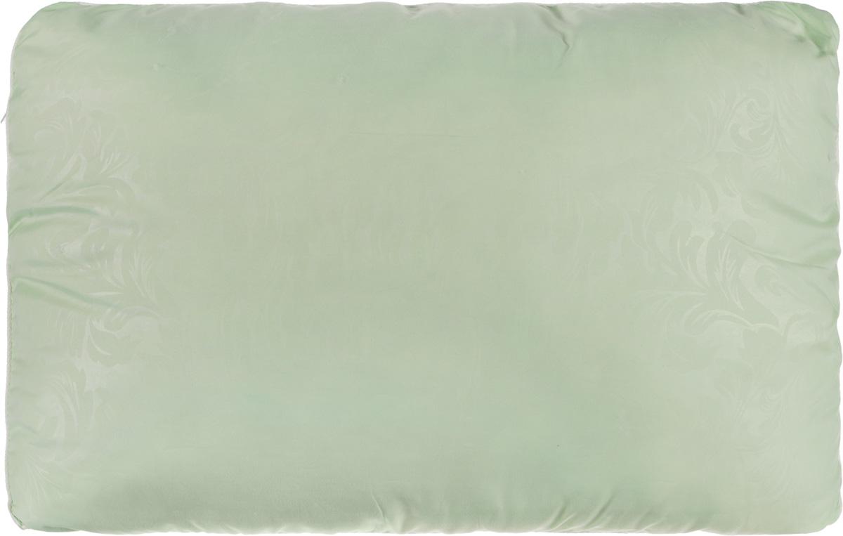 Подушка Smart Textile Безмятежность, наполнитель: лебяжий пух, алоэ вера, цвет: светло-зеленый, 50 х 70 смВZ35Удобная и мягкая подушка Smart Textile Безмятежность подарит здоровый сон и отличный отдых. Чехол подушки на молнии выполнен из микрофибры с красивым узором. В качестве наполнителя используется лебяжий пух, пропитанный экстрактом алоэ вера. Лебяжий пух - это 100% сверхтонкое высокосиликонизированное волокно. Такой наполнитель мягкий, приятный на ощупь и гипоаллергенный. Подушка удобна в эксплуатации: легко стирается, быстро сохнет, сохраняя первоначальные свойства, устойчива к воздействию прямых солнечных лучей, износостойка и прочна. Изделие обладает высокой теплоизоляционной способностью - не вызывает перегрева головы. Подушка обеспечит оптимальную, в меру упругую поддержку головы во время сна. На такой подушке комфортно спать в любую погоду людям всех возрастов.