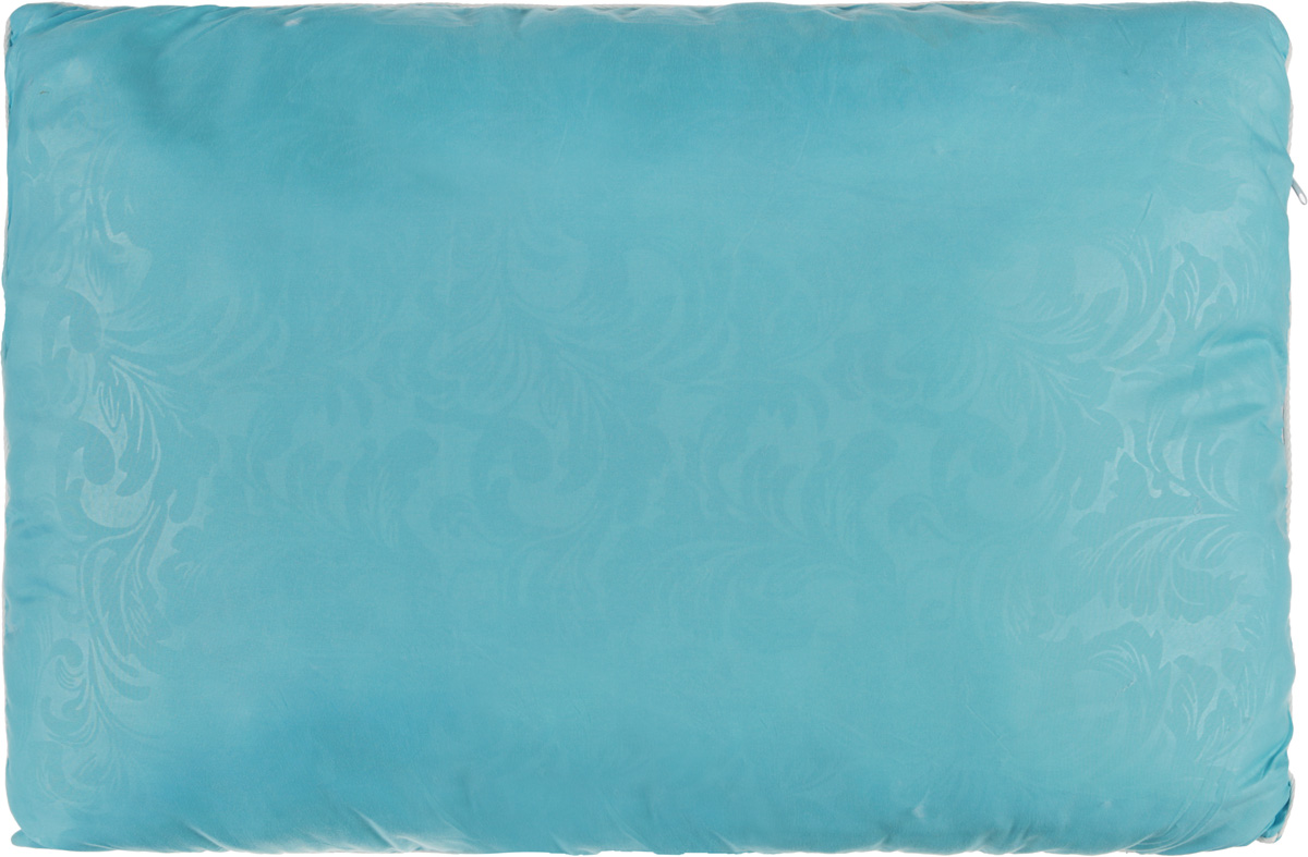 Подушка Smart Textile Безмятежность, наполнитель: лебяжий пух, бамбук, цвет: голубой, 50 х 70 смВZ08Удобная и мягкая подушка Smart Textile Безмятежность подарит здоровый сон и отличный отдых. Чехол подушки на молнии выполнен из микрофибры с красивым узором. В качестве наполнителя используется лебяжий пух с добавлением бамбукового волокна. Подушка мягкая, легкая и воздушная, бамбуковый наполнитель напоминает вату или синтепон. Лебяжий пух - это 100% сверхтонкое высокосиликонизированное волокно. Такой наполнитель мягкий и приятный на ощупь. Гипоаллергенное волокно бамбука легко пропускает воздух и не вызывает потливости. Оно мгновенно впитывает влагу и быстро высыхает, что особенно важно в летний зной. Подушка удобна в эксплуатации: легко стирается, быстро сохнет, сохраняя первоначальные свойства, устойчива к воздействию прямых солнечных лучей, износостойка и прочна. Подушка не накапливает запахов и не требует химчистки. Подушка упруга, великолепно держит форму, а также отличается достаточной жесткостью. Сон на такой подушке не принесет болей в шее и позвоночнике. Изделие также обладает высокой теплоизоляционной способностью - не вызывает перегрева головы.