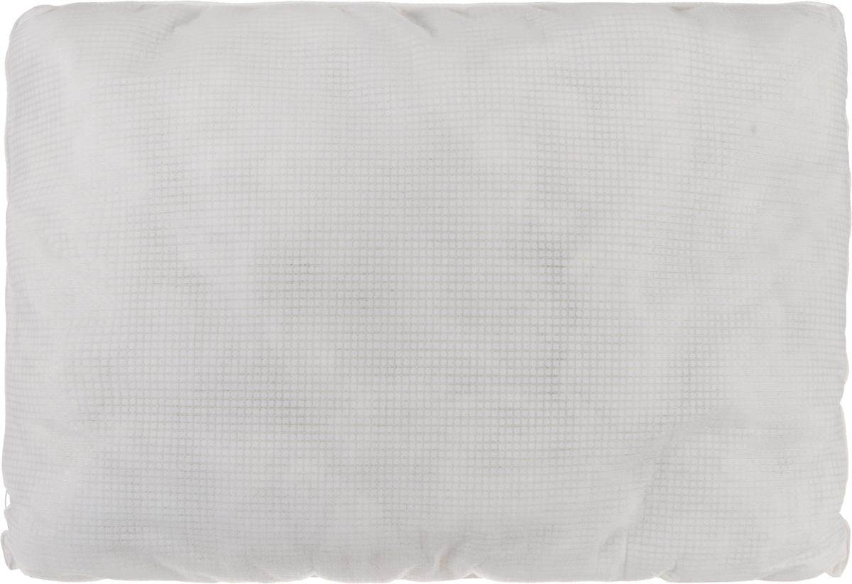 Подушка Smart Textile Невесомость, наполнитель: бамбук, 50 х 70 смOU0191Подушка Smart Textile Невесомость - это уникальная продукция с терморегулирующими свойствами. Чехол на молнии полностью выполнен из терморегулирующей ткани Outlast Xtra cooling. Изделие сглаживает температурные колебания окружающей среды и оказывает позитивное влияние на самочувствие. Технология Outlast, первоначально разработанная для НАСА, использует материалы, способные поглощать, хранить и выделять тепло, когда это необходимо, для обеспечения оптимального теплового баланса. Спящий человек ощущает себя максимально комфортно, меньше мерзнет или потеет, ему не слишком жарко и не слишком холодно. Действие технологии обуславливается работой микрокапсул, внедренных в волокна ткани. Во время сна температура тела меняется. Микрокапсулы Outlast Adaptive поглощают излишнее тепло, а при необходимости сохраненное тепло отдается телу - в результате обеспечивается взвешенный микроклимат. В качестве наполнителя используется мягкое и воздушное бамбуковое волокно, которое напоминает вату или синтепон. Гипоаллергенное волокно бамбука легко пропускает воздух и не вызывает потливости. Оно мгновенно впитывает влагу и быстро высыхает, что особенно важно в летний зной. Подушка упруга, великолепно держит форму, а также отличается достаточной жесткостью. Сон на такой подушке не принесет болей в шее и позвоночнике. Подушка не накапливает запахов, не требуют химчистки.