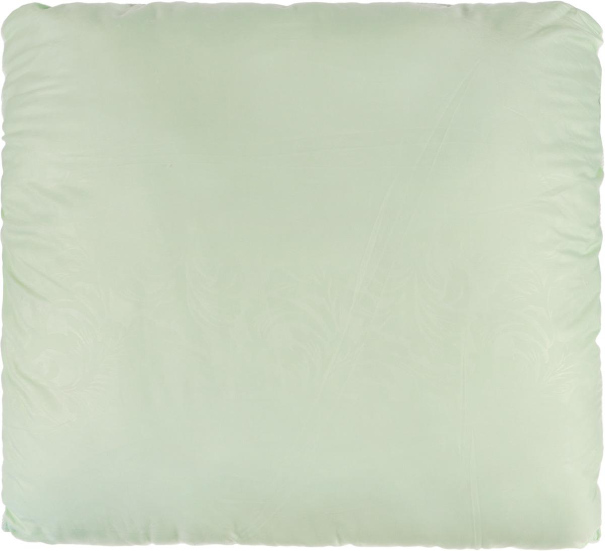 Подушка Smart Textile Безмятежность, наполнитель: лебяжий пух, цвет: светло-зеленый, 70 х 70 смВZ27Удобная и мягкая подушка Smart Textile Безмятежность подарит здоровый сон и отличный отдых. Чехол подушки на молнии выполнен из микрофибры с красивым узором. В качестве наполнителя используется лебяжий пух.Лебяжий пух - это 100% сверхтонкое высокосиликонизированное волокно. Такой наполнитель мягкий, приятный на ощупь и гипоаллергенный. Подушка удобна в эксплуатации: легко стирается, быстро сохнет, сохраняя первоначальные свойства, устойчива к воздействию прямых солнечных лучей, износостойка и прочна. Изделие обладает высокой теплоизоляционной способностью - не вызывает перегрева головы.Подушка обеспечит правильную поддержку головы и шеи во время сна. Наполнитель не сбивается в комки и сохраняет тепло. Подушка с этим наполнителем подойдет людям, склонным к аллергии, так как отталкивает пыль и не впитывает запахи.