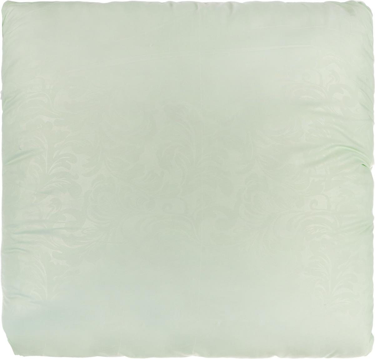 """Подушка Smart Textile """"Безмятежность"""", наполнитель: лебяжий пух, алоэ вера, цвет: светло-зеленый, 70 х 70 см"""