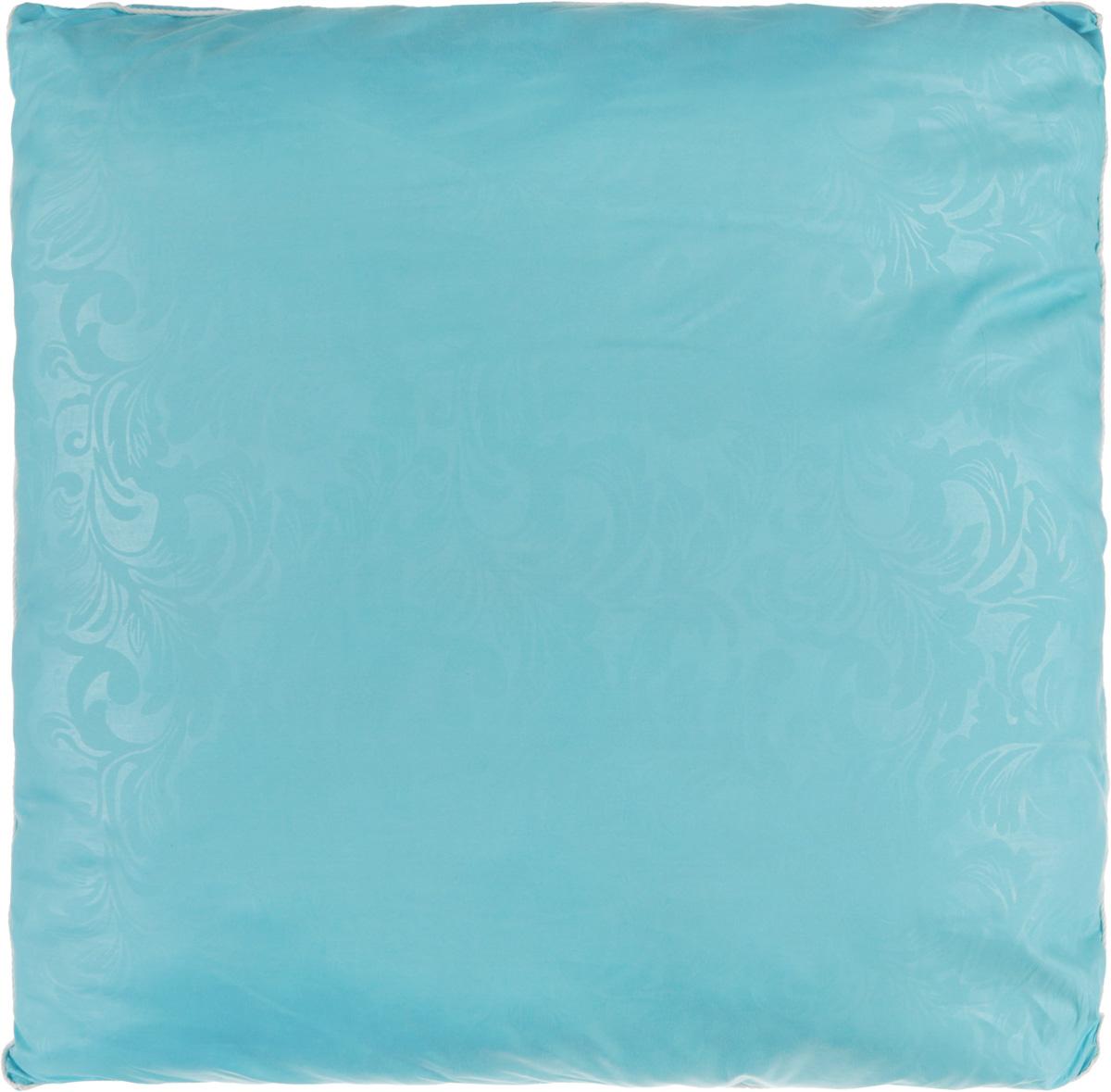 """Удобная и мягкая подушка Smart Textile """"Безмятежность"""" подарит здоровый сон и отличный отдых. Чехол подушки на молнии выполнен из микрофибры с красивым узором. В качестве наполнителя используется лебяжий пух с добавлением бамбукового волокна. Подушка мягкая, легкая и воздушная, бамбуковый наполнитель напоминает вату или синтепон.  Лебяжий пух - это 100% сверхтонкое высокосиликонизированное волокно. Такой наполнитель мягкий и приятный на ощупь. Гипоаллергенное волокно бамбука легко пропускает воздух и не вызывает потливости. Оно мгновенно впитывает влагу и быстро высыхает, что особенно важно в летний зной.  Подушка удобна в эксплуатации: легко стирается, быстро сохнет, сохраняя первоначальные свойства, устойчива к воздействию прямых солнечных лучей, износостойка и прочна. Подушка не накапливает запахов и не требует химчистки.  Подушка упруга, великолепно держит форму, а также отличается достаточной жесткостью. Сон на такой подушке не принесет болей в шее и позвоночнике. Изделие также обладает высокой теплоизоляционной способностью - не вызывает перегрева головы."""