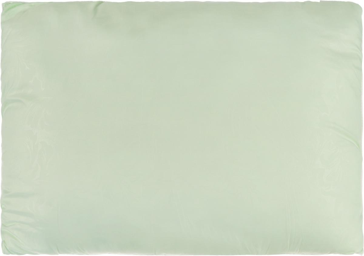 Подушка Smart Textile Безмятежность, наполнитель: лебяжий пух, цвет: светло-зеленый, 50 х 70 смВZ26Удобная и мягкая подушка Smart Textile Безмятежность подарит здоровый сон и отличный отдых. Чехол подушки на молнии выполнен из микрофибры с красивым узором. В качестве наполнителя используется лебяжий пух.Лебяжий пух - это 100% сверхтонкое высокосиликонизированное волокно. Такой наполнитель мягкий, приятный на ощупь и гипоаллергенный. Подушка удобна в эксплуатации: легко стирается, быстро сохнет, сохраняя первоначальные свойства, устойчива к воздействию прямых солнечных лучей, износостойка и прочна. Изделие обладает высокой теплоизоляционной способностью - не вызывает перегрева головы.Подушка обеспечит правильную поддержку головы и шеи во время сна. Наполнитель не сбивается в комки и сохраняет тепло. Подушка с этим наполнителем подойдет людям, склонным к аллергии, так как отталкивает пыль и не впитывает запахи.