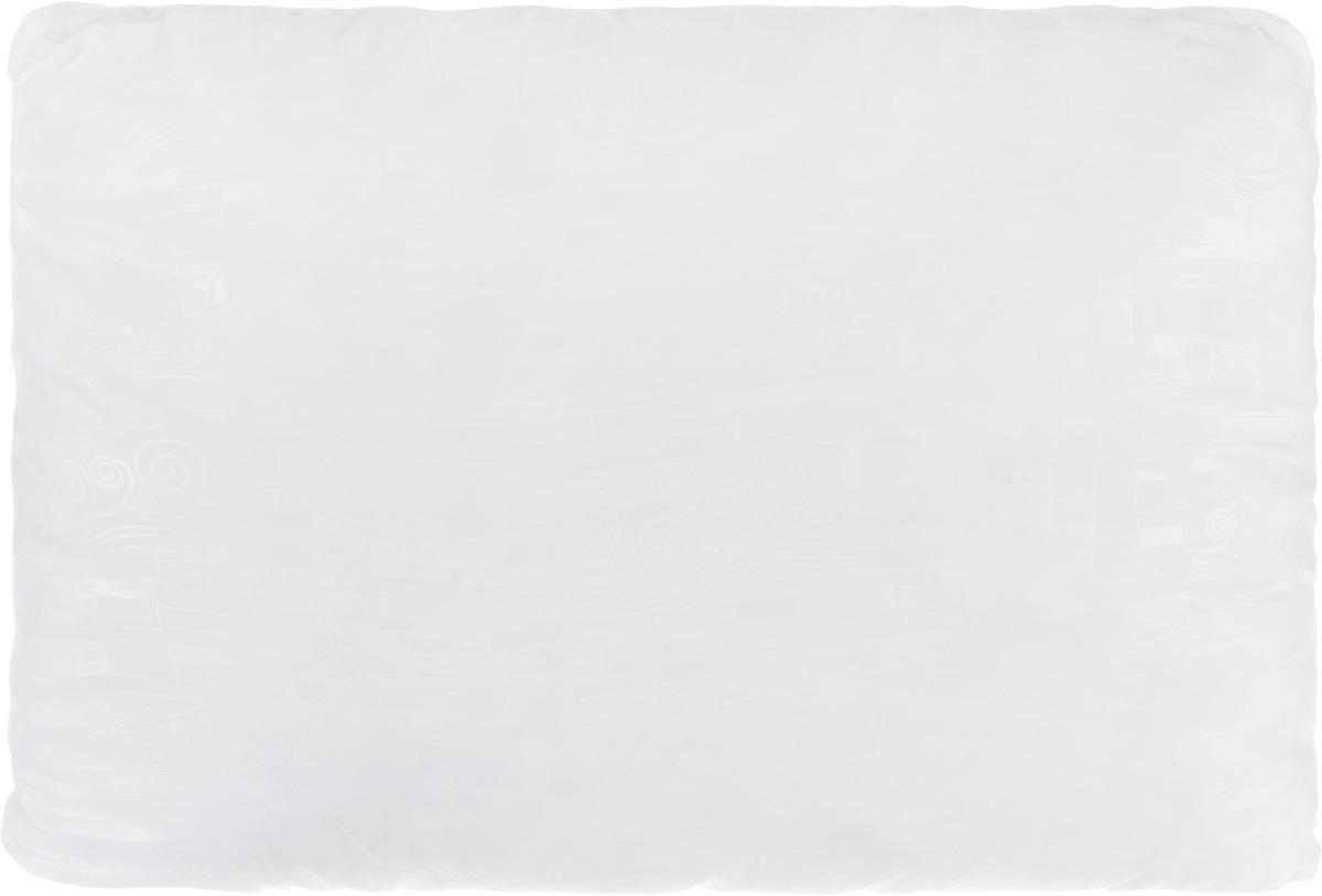Подушка Smart Textile Безмятежность, наполнитель: лебяжий пух, алоэ вера, цвет: белый, 50 х 70 смВZ23Удобная и мягкая подушка Smart Textile Безмятежность подарит здоровый сон и отличный отдых. Чехол подушки на молнии выполнен из микрофибры с красивым узором. В качестве наполнителя используется лебяжий пух, пропитанный экстрактом алоэ вера. Лебяжий пух - это 100% сверхтонкое высокосиликонизированное волокно. Такой наполнитель мягкий, приятный на ощупь и гипоаллергенный. Подушка удобна в эксплуатации: легко стирается, быстро сохнет, сохраняя первоначальные свойства, устойчива к воздействию прямых солнечных лучей, износостойка и прочна. Изделие обладает высокой теплоизоляционной способностью - не вызывает перегрева головы. Подушка обеспечит оптимальную, в меру упругую поддержку головы во время сна. На такой подушке комфортно спать в любую погоду людям всех возрастов.