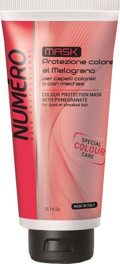 Brelil Numero Colour Маска для защиты цвета с экстрактом граната для окрашенных и мелированных волос 300 мл brelil numero curl маска с оливковым маслом для вьющихся и волнистых волос 1000 мл