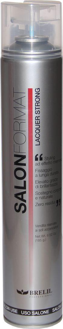 Brelil Salon Format Fixing Spray Strong Лак сильной фиксации 500 мл strong 210 купить
