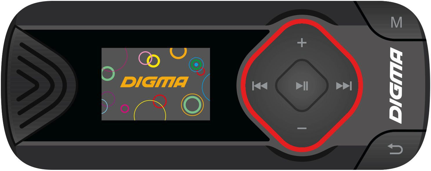 Digma R3 8Gb, Black MP3-плеер планшет digma plane 1601 3g ps1060mg black