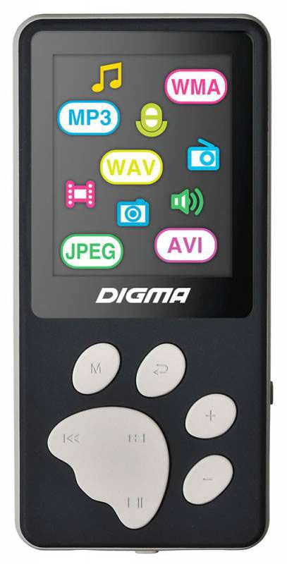 Digma S3 4Gb, Black Gray MP3-плеер mp3 плеер mpio mg100 4gb кабель