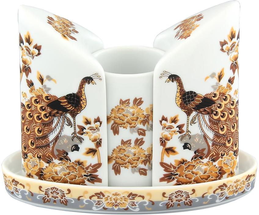 Набор для специй Elan Gallery Павлин, 4 предмета ваза 29 5 см х 21 см х 34 см