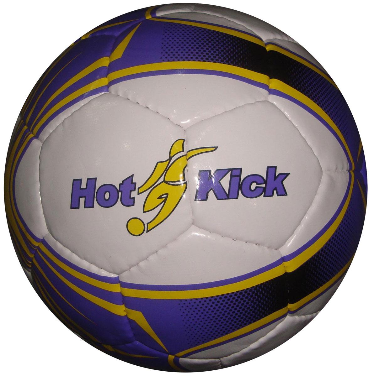 Tata Мяч детский футбольный цвет белый фиолетовый 22 см
