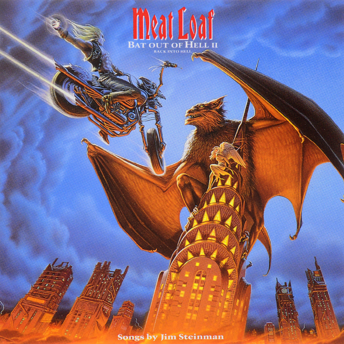Мит Лоуф Meat Loaf. Bat Out Of Hell II. Back Into Hell bow detail cut out back tee