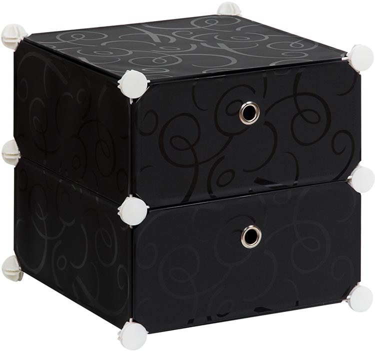 Полка складная EL Casa, для модульной системы хранения, цвет: черный, 37 х 39 х 39 см. 37064325051 7_желтыйПолка складная EL Casa представляет собой сборный металлический каркас, на который натянуты панели изполипропилена. Дверцы снабжены магнитом, а ручка выполнена в виде кольца. Изделие имеет 2 отделения.Модульная полка предназначена для хранения одежды, игрушек и мелочей. Она легкая, вместительная, быстрособирается, не занимает много места, комбинируется с другими полками модульных систем El Casa.Компактная полка станет незаменимой дома или на даче, однотонная расцветка позволит ей вписаться в любойинтерьер.
