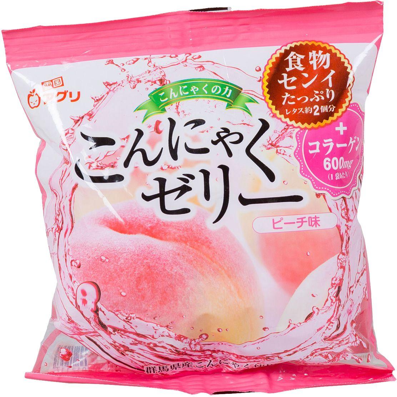 Yukiguni желе конняку десерт с соком персика, 115 г конняку купить