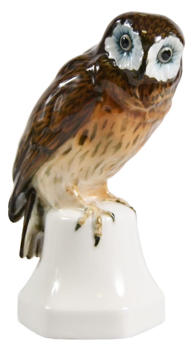 Статуэтка Hutschenreuther Сова. Фарфор, роспись, ручная работа. Германия, 1920-1930 гг статуэтка кролик 30 х 20 х 29 см
