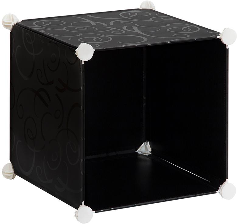 Полка складная EL Casa, для модульной системы хранения, цвет: черный, 37 х 39 х 39 см. 370663370663Полка складная EL Casa представляет собой сборный металлический каркас, на который натянуты панели из полипропилена. Модульная полка предназначена для хранения одежды, игрушек и мелочей. Она легкая, вместительная, быстро собирается, не занимает много места, комбинируется с другими полками модульных систем El Casa. Компактная полка станет незаменимой дома или на даче, однотонная расцветка позволит ей вписаться в любой интерьер.