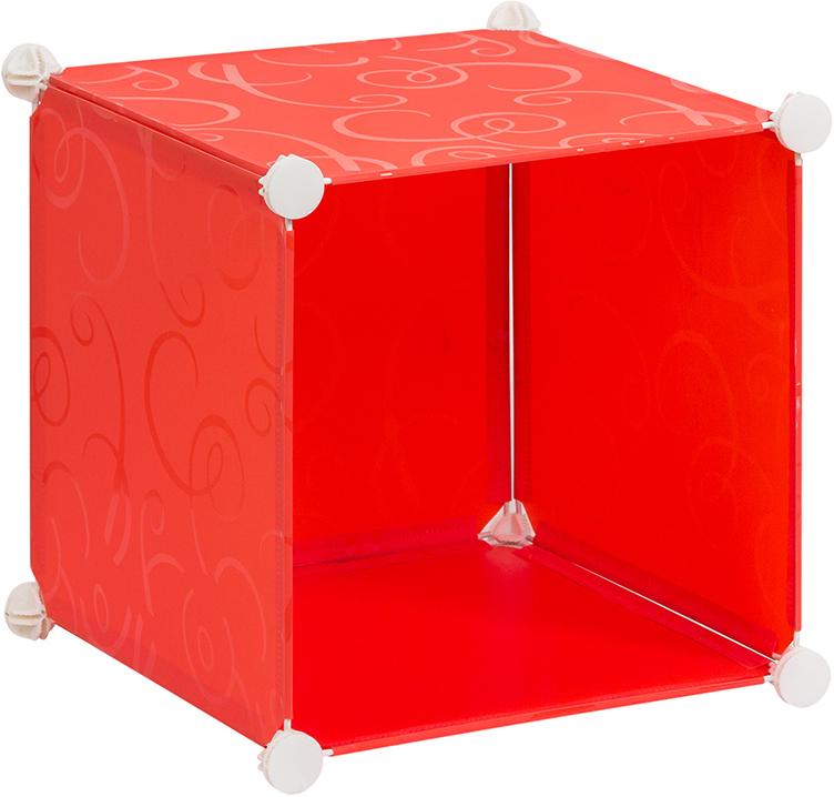 Полка складная EL Casa, для модульной системы хранения, цвет: красный, 37 х 39 х 39 см. 370664370664Полка складная EL Casa представляет собой сборный металлический каркас, на который натянуты панели из полипропилена. Модульная полка предназначена для хранения одежды, игрушек и мелочей. Она легкая, вместительная, быстро собирается, не занимает много места, комбинируется с другими полками модульных систем El Casa. Компактная полка станет незаменимой дома или на даче, однотонная расцветка позволит ей вписаться в любой интерьер.