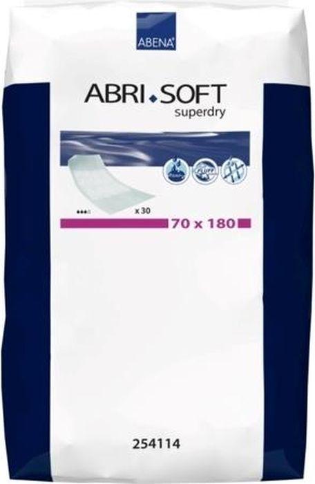 Abena Пеленки впитывающие Abri-Soft Superdry 70 x 180 см 30 шт254114Впитывающие пеленки применяются, если необходимо обезопасить уход за лежачими больными, то есть защитить поверхности и постельное белье от протеканий. В данном случае особенно эффективны пеленки Abena Abri-Soft Superdry, которые изготовлены из высококачественных материалов – распушенной целлюлозы, нетканого слоя и полиэтилена, максимально поглощающего влагу. Замена подгузников и другие гигиенические процедуры обязательно сопровождаются неприятными протеканиями мочи и загрязнениями разных поверхностей. К тому же, больной человек чувствует дискомфорт от соприкосновения с раздражителями. Качественные пеленки с повышенной степенью впитываемости и абсорбентом необходимы при заботе о лежачих больных.Преимущества Кромки пеленок полностью герметичны и исключают вероятность протекания. Материал изготовления – мягкий и нежный, предотвращает раздражения и появления опрелостей, аллергических реакций. Внешний слой совсем не пропускает влагу