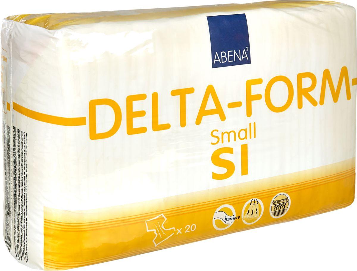 Abena Подгузники для взрослых Delta-Form S1 20 шт308851Подгузники для взрослых Abena Delta-Form созданы для ухода за пациентами, имеющими недержание мочи. Они имеют анатомическую форму, которая обеспечивает оптимальный комфорт и активность пациента. Внутренняя поверхность изготавливается из особого материала, который обеспечивает сухость, защиту кожи и проникновение влаги только в одну сторону. Благодаря наличию распределительного слоя TOP DRY влага впитывается очень быстро и минимально контактирует с кожей.Впитываемость 1100 г. Размер 60-85 см.