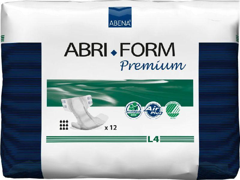 Abena Подгузники для взрослых Abri-Form Premium L4 12 шт43068Abena Abri-Form Premium - это премиум подгузники для взрослых с умеренной и тяжелой формами недержания. Отличия Abri-Form Premium:3 степени защиты от протеканий (уникальные впитывающие каналы, 6 слоев, высокие бортики, направленные внутрь подгузника)имеет дополнительную защиту от протеканий со спины (первые в России подгузники с кармашком, задерживающим жидкость)мягкие тянущиеся боковинки не оставляют следов на бедрах, в отличие от обычной резинкижидкость превращается в гель и не может вытечь7 дополнительных преимуществ:подгузник полностью дышащий;задерживает запахи;быстро впитывает за счет системы Top Dry (Топ Драй) и влагораспределяющих каналов;выполнен из мягких бесшумных материалов;имеет сегментированный индикатор намокания;отмечен экомаркировкой Скандинавии Белый лебедь;одобрен дерматологическим контролем.Впитываемость 4000 г. Размер: 100-150 см.