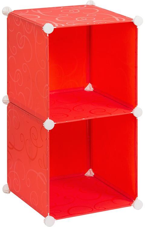 Полка складная EL Casa, для модульной системы хранения, цвет: красный, 37 х 39 х 74 см370668Складная модульная полка EL Casa представляет собой сборный металлический каркас, на который натянуты панели из полипропилена. Изделие имеет 2 секции. Модульная полка предназначена для хранения одежды, игрушек и мелочей. Она легкая, вместительная, быстро собирается, не занимает много места, комбинируется с другими полками модульных систем El Casa. Компактная полка станет незаменимой дома или на даче, однотонная расцветка позволит ей вписаться в любой интерьер.