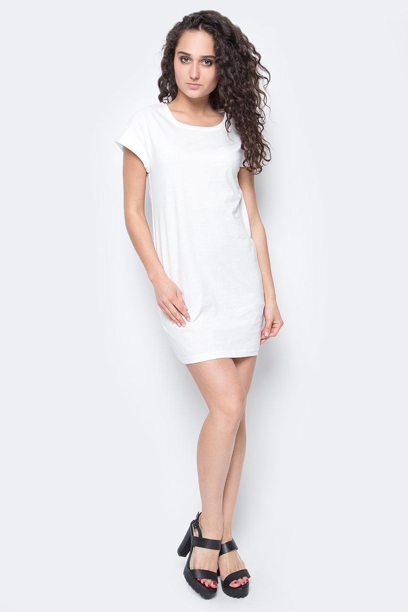 Платье Only, цвет: молочный. 15136860_Cloud Dancer. Размер L (48)15136860_Cloud DancerЖенское повседневное платье Only изготовлено из мягкого трикотажа, послужит идеальным дополнением к вашему гардеробу.