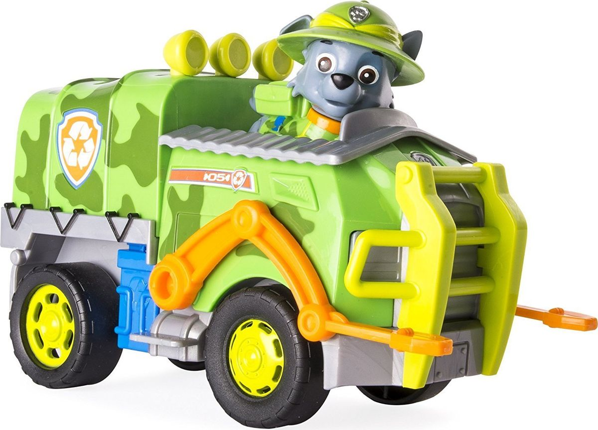 Paw Patrol Игровой набор Машина спасателя со щенком Рокки paw patrol набор восковых карандашей 12 цветов 2373435