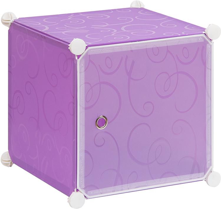 Полка складная EL Casa, для модульной системы хранения, цвет: фиолетовый, 37 х 39 х 39 см. 370670 полка складная д мод сист хран 39 47 39 см белая с узором 1 секция 1 дверка магниты 1205614