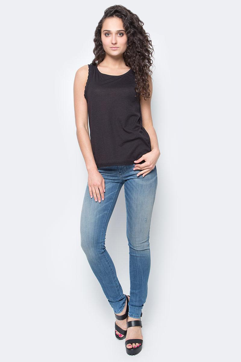 Топ женский Only, цвет: черный. 15135440_Black. Размер XS (40/42) платье only цвет черный 15139191 black размер xs 40 42