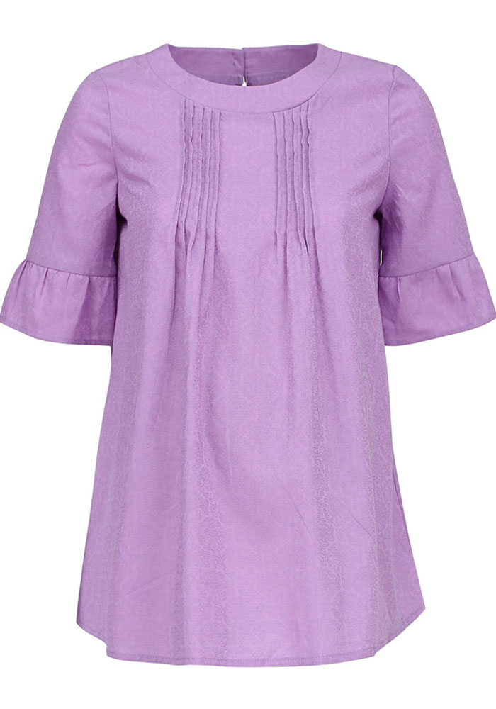 Блузка для беременных и кормящих Mammy Size, цвет: сиреневый. 102337. Размер 46