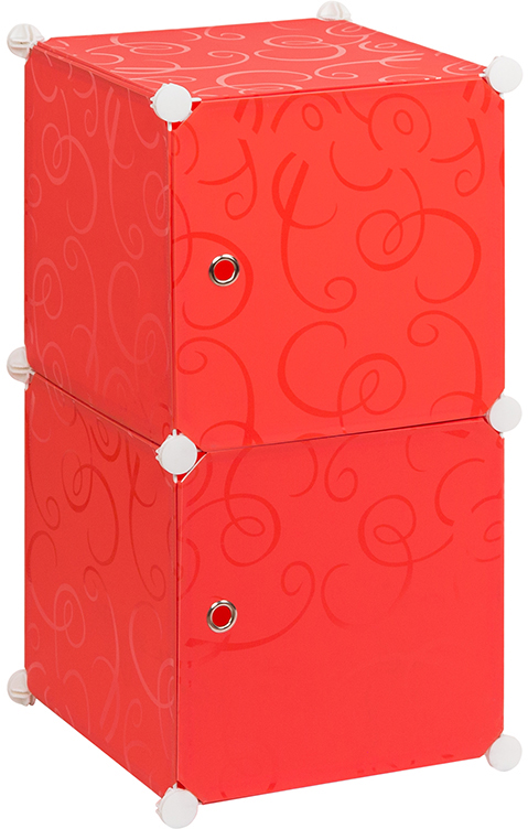 Полка складная EL Casa, для модульной системы хранения, цвет: красный, 37 х 39 х 74 см. 370676 полка складная д мод сист хран 39 47 39 см белая с узором 1 секция 1 дверка магниты 1205614
