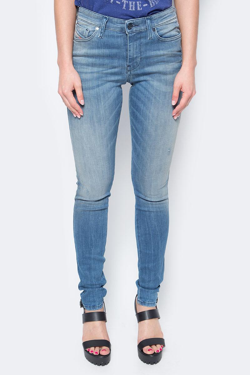 Джинсы женские Diesel, цвет: синий. 00S142-0679W/01. Размер 26-32 (42-32) джинсы женские diesel цвет синий 00s142 0679w 01 размер 26 32 42 32