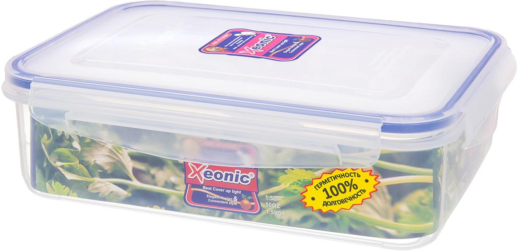 """Пластиковые герметичные контейнеры для хранения продуктов """"Xeonic"""" произведены из высококачественных материалов, имеют 100% герметичность, термоустойчивы, могут быть использованы в микроволновой печи и в морозильной камере, устойчивы к воздействию масел и жиров, не впитывают запах. Удобны в использовании, долговечны, легко открываются и закрываются, не занимают много места, можно мыть в посудомоечной машине.   Размер: 20 см х 15 см х 6 см."""