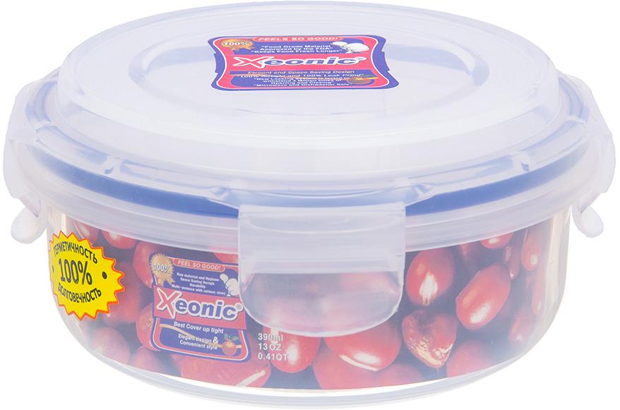 Контейнер пищевой Xeonic, 390 мл810034Герметичный контейнер для хранения продуктов Xeonic произведен из высококачественного полипропилена. Изделие термоустойчиво, может быть использовано в микроволновой печи и в морозильной камере, устойчиво к воздействию масел и жиров, не впитывают запах. Контейнер удобен в использовании, долговечен, легко открывается и закрывается. Герметичность обеспечивается четырьмя защелками и силиконовой прослойкой на крышке. Контейнер компактен и не займет много места.Можно мыть в посудомоечной машине.Диаметр по верхнему краю: 12 см.Диаметр дна: 10 см.Высота с учетом крышки: 6,5 см.