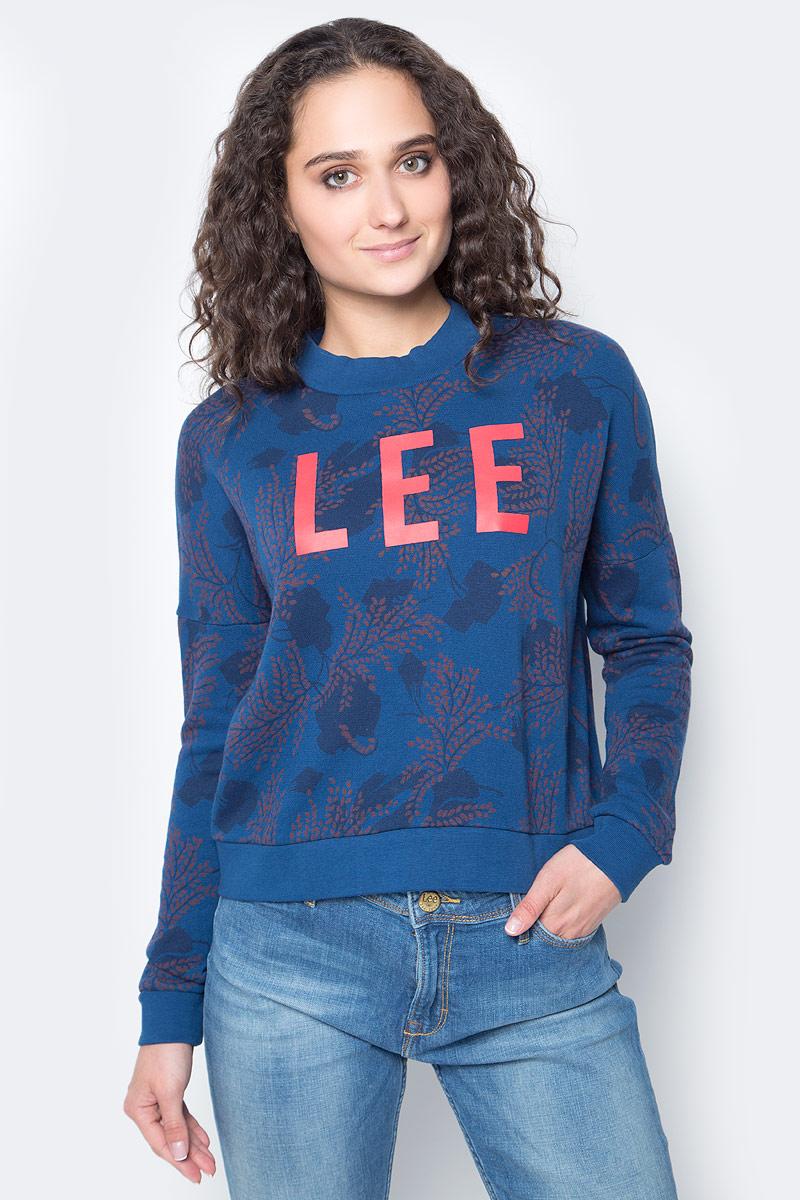 Свитшот женский Lee, цвет: темно-синий. L53KUYLR. Размер L (48)
