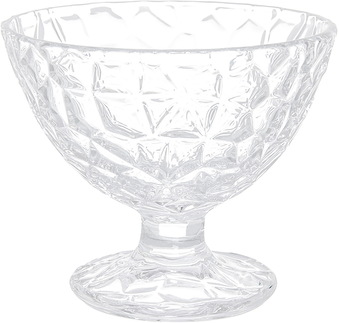 Креманка Elan Gallery Сетка, 200 мл890094Креманка Elan Gallery Сетка изготовлена из высококачественного стекла, внешние стенки декорированы красивым рельефом. Легкая и красивая, стеклянная креманка, преломляя свет, украсит любой стол. Изделие подходит для подачи мороженого и десертов. Вы обязательно порадуете гостей, если подадите десерт в такой креманке. Не рекомендуется использовать в микроволновой печи. Диаметр по верхнему краю: 10 см. Диаметр основания: 6 см. Высота креманки: 8 см.