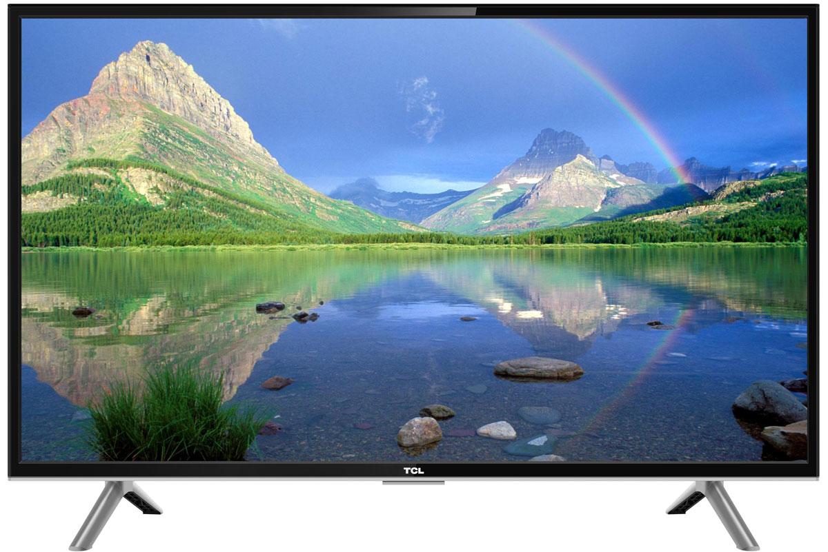 TCL LED40D2930, Black телевизорLED40D2930Телевизор TCL LED40D2930 успешно совмещает в себе все функции, присущие полноценному развлекательному медиацентру. Сочетание превосходного изображения и современных технологий предоставит вам возможность насладиться невероятно четким и ярким изображением. Разрешение Full HD 1080p отвечает стандартам высокой четкости, отображая на экране 1080 (прогрессивных) линий разрешения, для более четкого и детального изображения.Smart-телевизор TCL откроет для вас новый мир, объединяющий сотни и тысячи телеканалов, интернет-серфинг и вселенные онлайн-игр. Загружайте любимые фильмы, делитесь своими лучшими фотографиями и видеозаписями в социальных сетях, слушайте музыку и узнавайте интересующие вас новости с помощью удобных предустановленных приложений.Звук Dolby Digital сделает обладателя ТВ участником событий вместе с киногероями. Стереофонический, мощный, обогащенный басами звук никого не оставит равнодушным.Тюнер DVB-T2 позволяет без дополнительного оборудования смотреть телеканалы в цифровом качестве без помех.Стильный корпус легко впишется в любой интерьер, а специальная возможность крепления телевизора на стену позволит разместить устройство с максимальным удобством.