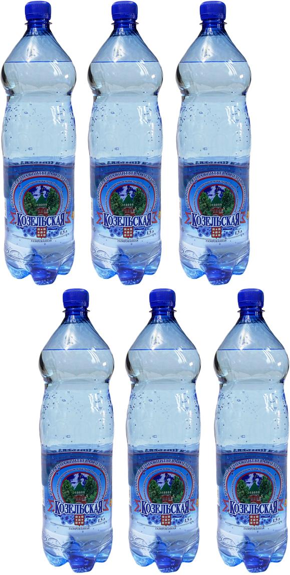 Козельская вода минеральная газированая, 6 шт по 1,5 л коробка для кружек printio подарочная футбол