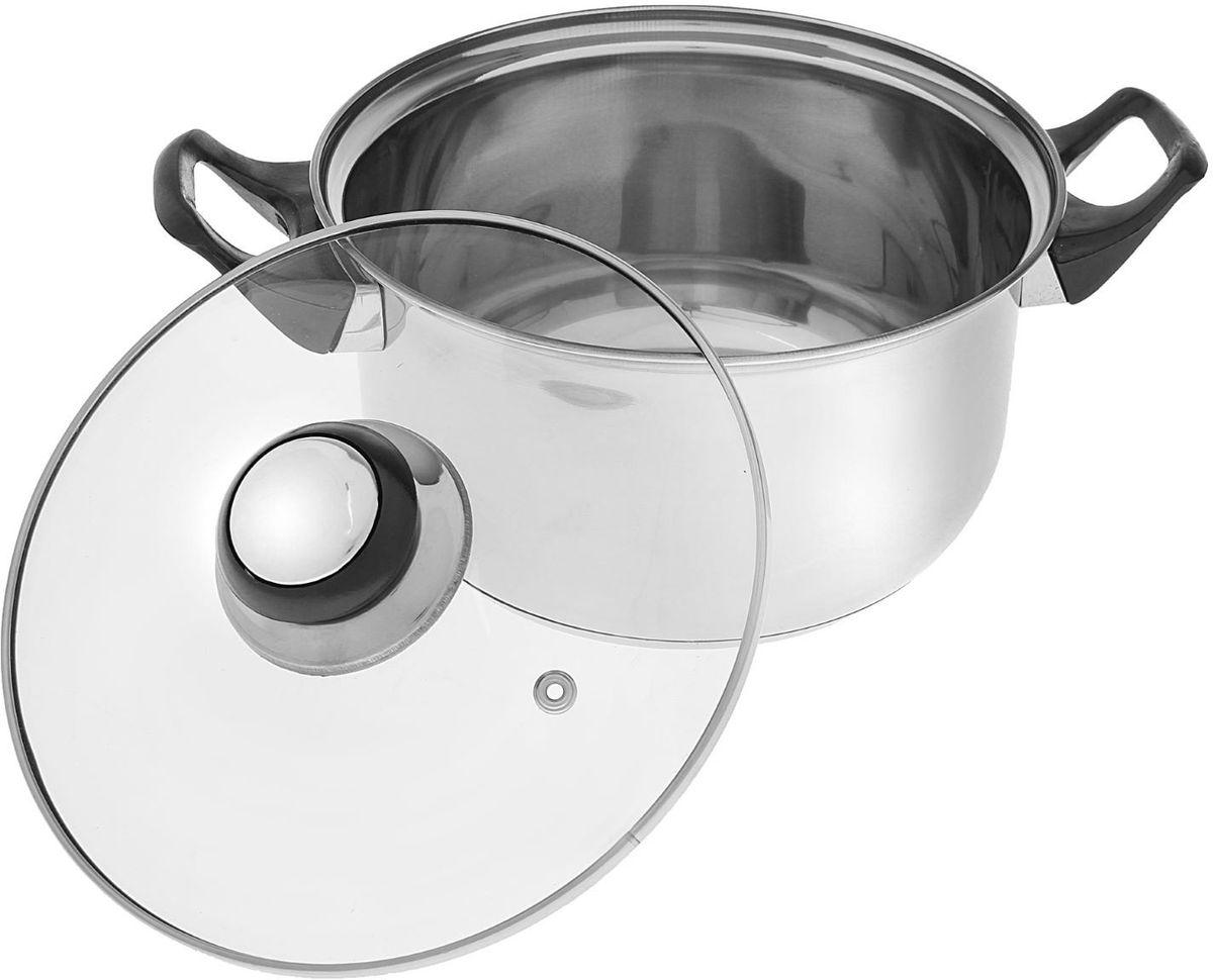 """Набор посуды Доляна """"Черная ночь"""" с крышками, 8 предметов"""