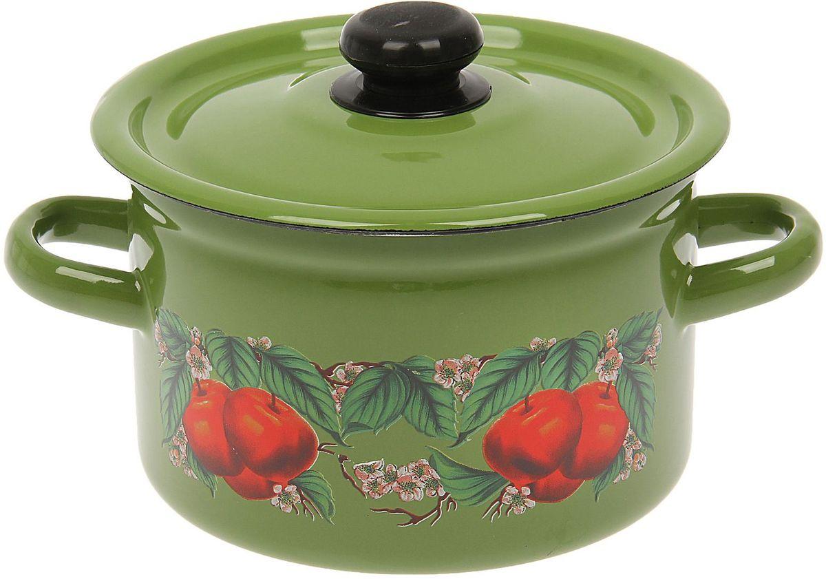 Кастрюля Epos Яблоко зеленое, 2 л1444475Эмалированная кастрюля пригодится вам для быстрого приготовления разных типов блюд. Такая посуда подходит для домашнего и профессионального использования.Кастрюля цилиндрическая — помощь на кухне на долгие годы.Достоинства:посуда быстро и равномерно нагревается;корпус стоек к ржавчине;изделие легко отмывается в посудомоечной машине.Благодаря приятным цветам кастрюля удачно впишется в любой дизайн интерьера. Наилучшее качество покрытия достигается за счёт того, что посуда проходит обжиг при температуре до 800 градусов.Чтобы предмет сохранял наилучшие эксплуатационные свойства, соблюдайте правила ухода:избегайте ударов и падений;не пользуйтесь высокоабразивными чистящими средствами;не допускайте резких перепадов температуры.Посуда подходит для долговременного хранения пищи.