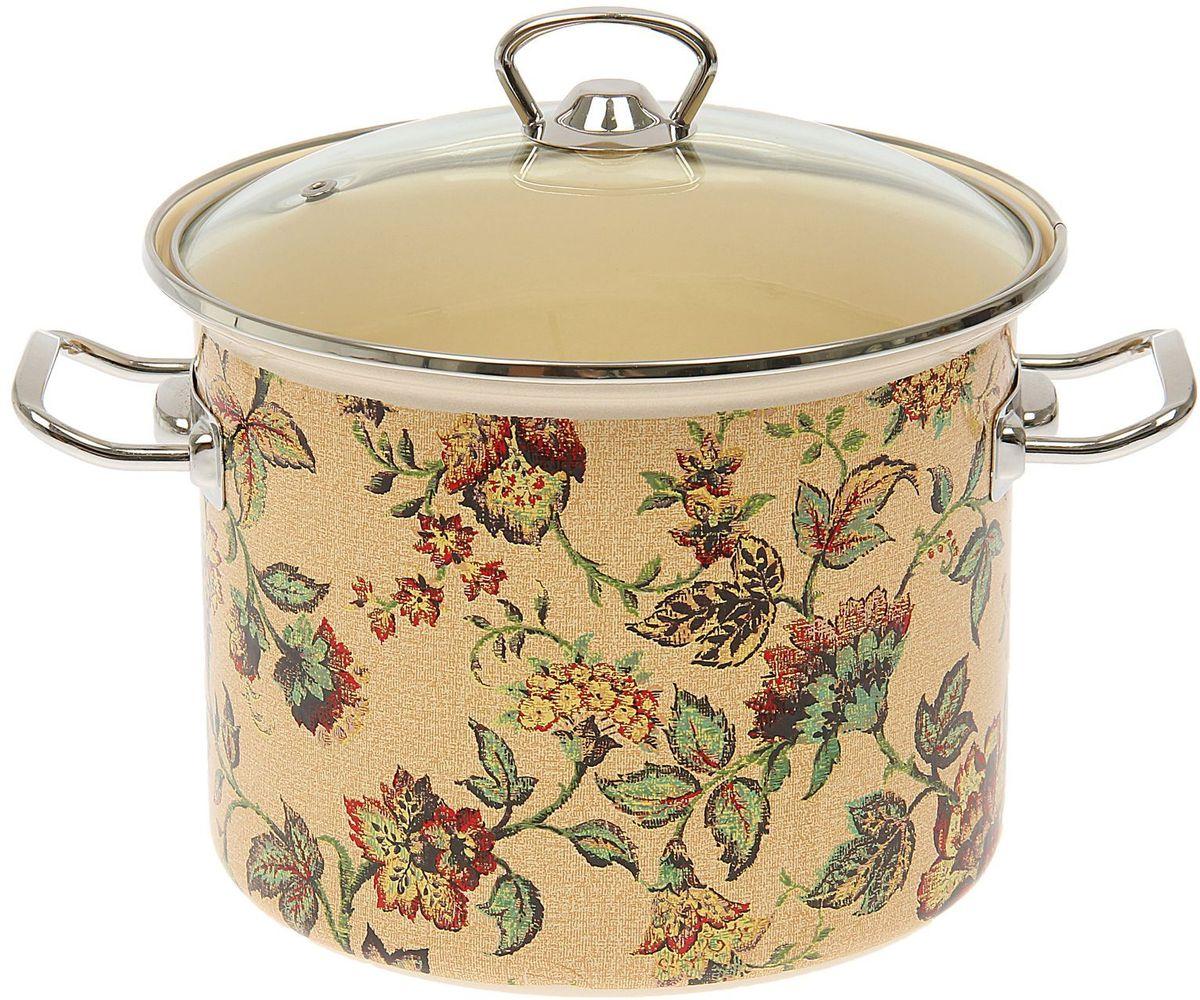 Кастрюля Epos Версаль, с крышкой, 5,5 л1444497Эмалированная кастрюля пригодится вам для быстрого приготовления разных типов блюд. Такая посуда подходит для домашнего и профессионального использования.Кастрюля цилиндрическая — помощь на кухне на долгие годы.Достоинства:посуда быстро и равномерно нагревается;корпус стоек к ржавчине;изделие легко отмывается в посудомоечной машине.Благодаря приятным цветам кастрюля удачно впишется в любой дизайн интерьера. Наилучшее качество покрытия достигается за счёт того, что посуда проходит обжиг при температуре до 800 градусов.Чтобы предмет сохранял наилучшие эксплуатационные свойства, соблюдайте правила ухода:избегайте ударов и падений;не пользуйтесь высокоабразивными чистящими средствами;не допускайте резких перепадов температуры.Посуда подходит для долговременного хранения пищи.