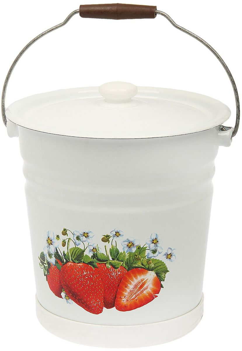 Ведро Epos Клубника, с крышкой, с поддоном, 12 л1444523Эмалированная посудая пригодится вам для быстрого приготовления разных типов блюд. Такая посуда подходит для домашнего и профессионального использования.Достоинства: посуда быстро и равномерно нагревается; корпус стоек к ржавчине; изделие легко отмывается в посудомоечной машине. Благодаря приятным цветам кастрюля удачно впишется в любой дизайн интерьера. Наилучшее качество покрытия достигается за счёт того, что посуда проходит обжиг при температуре до 800 градусов. Чтобы предмет сохранял наилучшие эксплуатационные свойства, соблюдайте правила ухода: избегайте ударов и падений; не пользуйтесь высокоабразивными чистящими средствами; не допускайте резких перепадов температуры. Посуда подходит для долговременного хранения пищи.