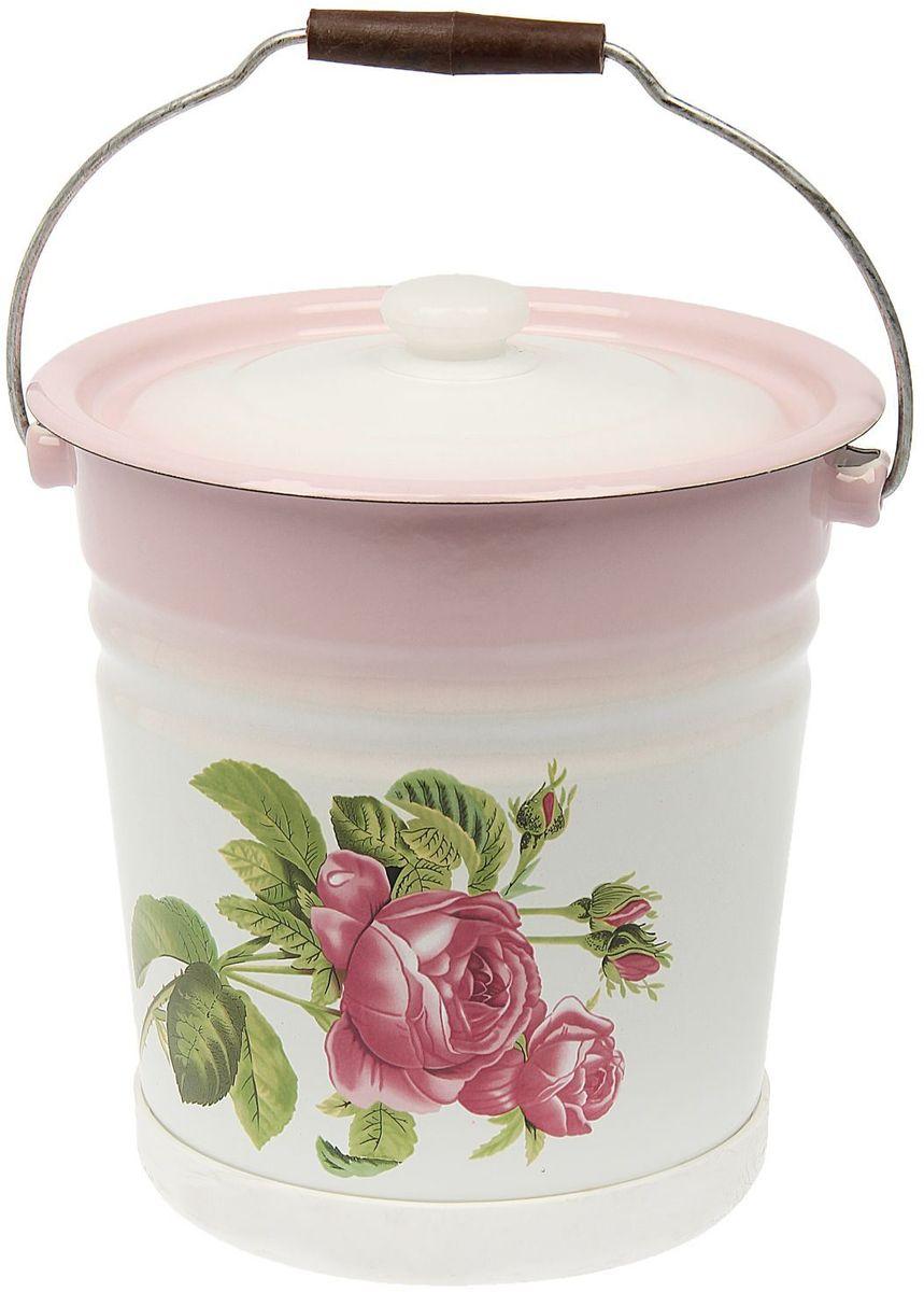 Ведро Epos Роза Кавказа с крышкой, с поддоном, 12 л1444525Эмалированная посуда пригодится вам для быстрого приготовления разных типов блюд. Такая посуда подходит для домашнего и профессионального использования.Достоинства:посуда быстро и равномерно нагревается;корпус стоек к ржавчине;изделие легко отмывается в посудомоечной машине.Благодаря приятным цветам кастрюля удачно впишется в любой дизайн интерьера. Наилучшее качество покрытия достигается за счёт того, что посуда проходит обжиг при температуре до 800 градусов.Чтобы предмет сохранял наилучшие эксплуатационные свойства, соблюдайте правила ухода:избегайте ударов и падений;не пользуйтесь высокоабразивными чистящими средствами;не допускайте резких перепадов температуры.Посуда подходит для долговременного хранения пищи.